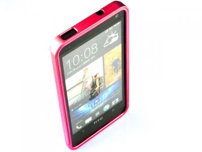 Aluminium Bumper Skal till HTC One (M7) (Magenta)