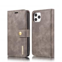 DG.MING Detachable Äkta Läder Plånboksfodral iPhone 12 Pro Max - Grå