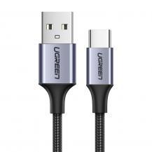 UGrönUGreen USB Type C Kabel snabb laddning 3.0 3A 0,5m Grå