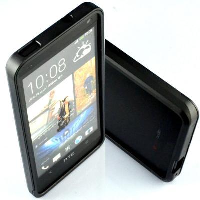 Aluminium Bumper Skal till HTC One (M7) (Svart)