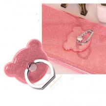 OEMNalleBjörn Glitter Ringhållare till Mobiltelefon - Rosa