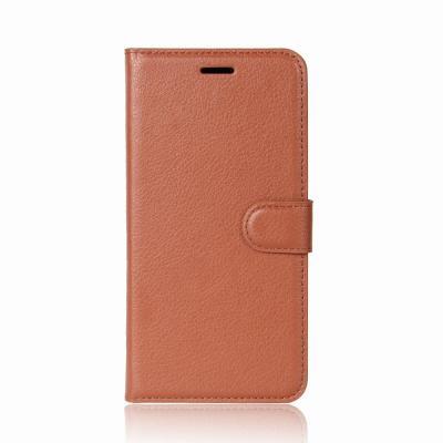 Litchi Plånboksfodral till Nokia 8 - Brun