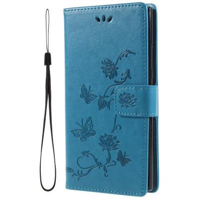 Butterfly Plånboksfodral till Sony Xperia L2 - Blå