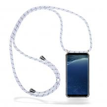 CoveredGear-NecklaceCoveredGear Necklace Case Samsung Galaxy S8 - White Stripes Cord