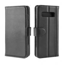 A-One BrandGenuine Split Plånboksfodral till Samsung Galaxy S10 Plus - Svart