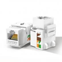 UGrönUGreen Ethernet Cat 5e 8P8C RJ45 100 Mbps 568A/B Vit