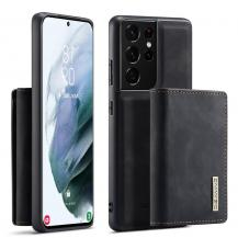 DG.MINGSamsung Galaxy S21 Ultra Skal DG.MING M1 Magnetic Tri-fold Wallet Med Kickstand
