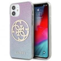 GuessGUESS Skal iPhone 12 mini Glitter Gradient Circle Logo - Blå
