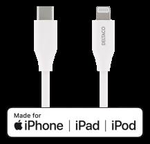 DeltacoDELTACO USB-C till Lightning kabel, 2m, USB 2.0, vit