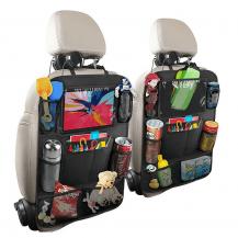 A-One BrandUniversal iPad-hållare för bilens baksäte med flera fack
