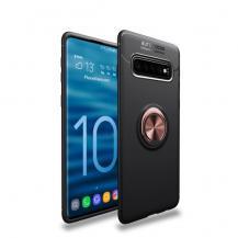 A-One BrandMagnetiskt Skal med Ring för Samsung Galaxy S10 - Svart Rosa