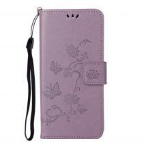 A-One BrandImprint Butterfly Plånboksfodral till Galaxy S21 Plus - Lila