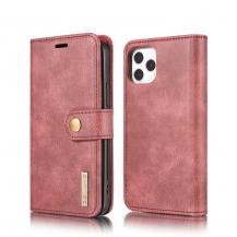 DG.MINGDG.MING Detachable Äkta Läder Plånboksfodral iPhone 12 & iPhone 12 Pro - Röd