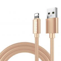 Boom of SwedenBoom of Sweden - Nylon USB till Lightning Kabel, 2.1A, 2M - Gold