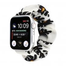 OEMArmband Scrunchie Apple Watch 1/2/3/4/5/6/SE 38/40mm Svart Maskros