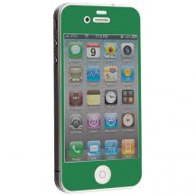 A-One BrandColored Tempered Glass Skärmskydd till Apple iPhone 4 / 4S - Mörk Grön