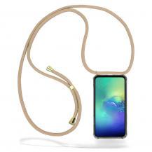 CoveredGear-NecklaceCoveredGear Necklace Case Samsung Galaxy S10e - Beige Cord