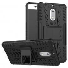 OEMRugged Armor Kickstand Skal till Nokia 6 - Svart