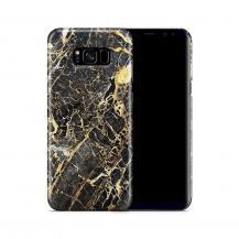 Skal till Samsung Galaxy S8 Plus - Marble - Svart/Gul