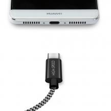 SiGNSiGN Skin USB-C-kabel 2.1A 1.5 m - Svart/Vit