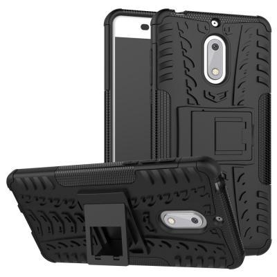 Rugged Armor Kickstand Skal till Nokia 6 - Svart