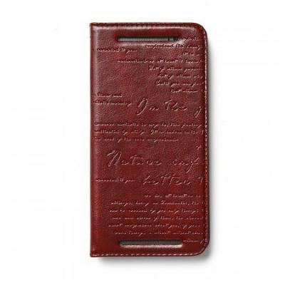 Zenus Lettering Plånboksfodral till HTC One M8 - VinRöd