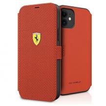 FerrariFerrari Plånboksfodral iPhone 12 mini On Track Perforated - Röd
