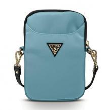 GuessGuess Handväska Nylon Triangle Logo - Blå