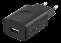 DeltacoDELTACO Väggladdare 100-240V, USB, 5V, 2,4A, 12W, svart