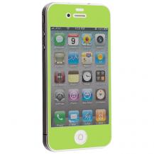 A-One BrandColored Tempered Glass Skärmskydd till Apple iPhone 4 / 4S - Ljus Grön