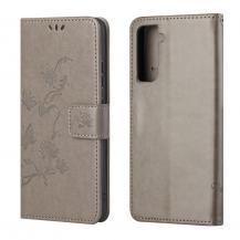 A-One BrandButterfly Plånboksfodral Samsung Galaxy S21 FE - Grå