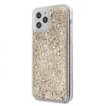 GuessGuess Skal iPhone 12 Pro Max Liquid Glitter - Guld