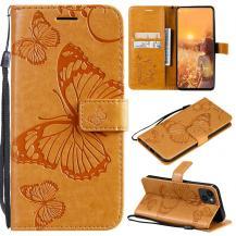 OEMFjärilar Plånboksfodral iPhone 13 - Gul