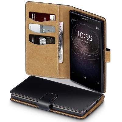 Brun Interior Plånboksfodral Sony Xperia L2 - Svart