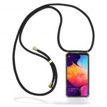 CoveredGear-NecklaceCoveredGear Necklace Case Samsung Galaxy A50 - Black Cord