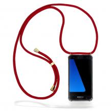 CoveredGear-NecklaceCoveredGear Necklace Case Samsung Galaxy S7 Edge - Maroon Cord