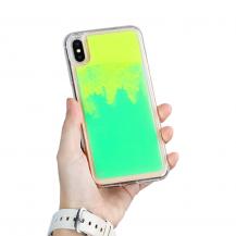 A-One BrandLiquid Neon Sand skal till iPhone Xs Max - Grön