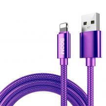 Boom of SwedenBoom of Sweden - Nylon USB till Lightning Kabel, 2.1A, 2M - Lila