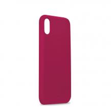PuroPuro Icon Cover till iPhone XR - Fuchsia