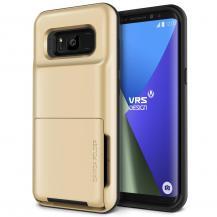 VERUSVerus Damda Folder Card Slot Skal till Samsung Galaxy S8 Plus - Gold