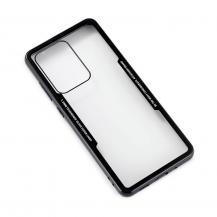 GEARGEAR Mobilskal med Tempererat Glas Svart Samsung S20 Ultra