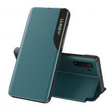 HurtelEco Leather View Case Fodral Galaxy Note 10 Grön
