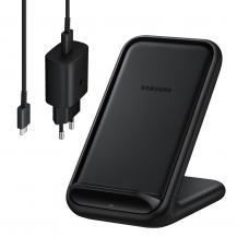 SamsungSamsung Qi Trådlös Laddare - Väggladdare USB-C Kabel - Svart