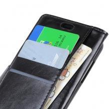 A-One BrandCrazy Horse Plånboksfodral till Sony Xperia L3 - Svart