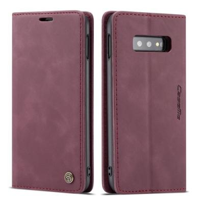 CASEME Plånboksfodral för Samsung Galax S10e - Röd