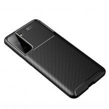 A-One BrandCarbon Fiber Mobilskal till Samsung Galaxy S21 - Svart