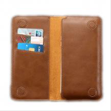 FlovemeFloveme Universal Pouch Wallet i äkta läder - Brun