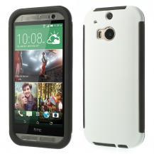 A-One BrandCombo Skal med inbyggd skärmskydd till HTC One M8 (Vit)