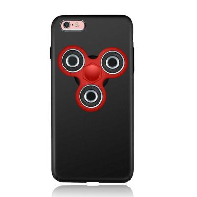 EDC Tri Fidget Spinner Skal till iPhone 6 (S) - Svart