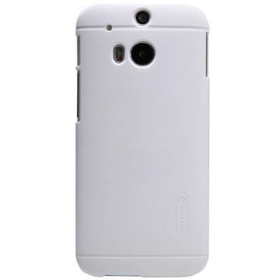 Nillkin Frosted Shield Skal till HTC One M8 (Vit) + Skärmskydd